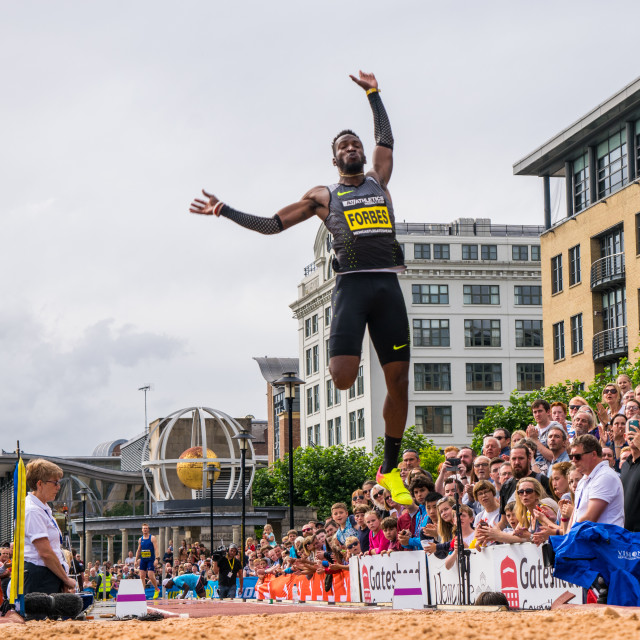 """Great North CityGames long jump"" stock image"