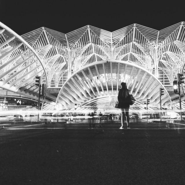 """Lisbon Oriente - Train Station"" stock image"