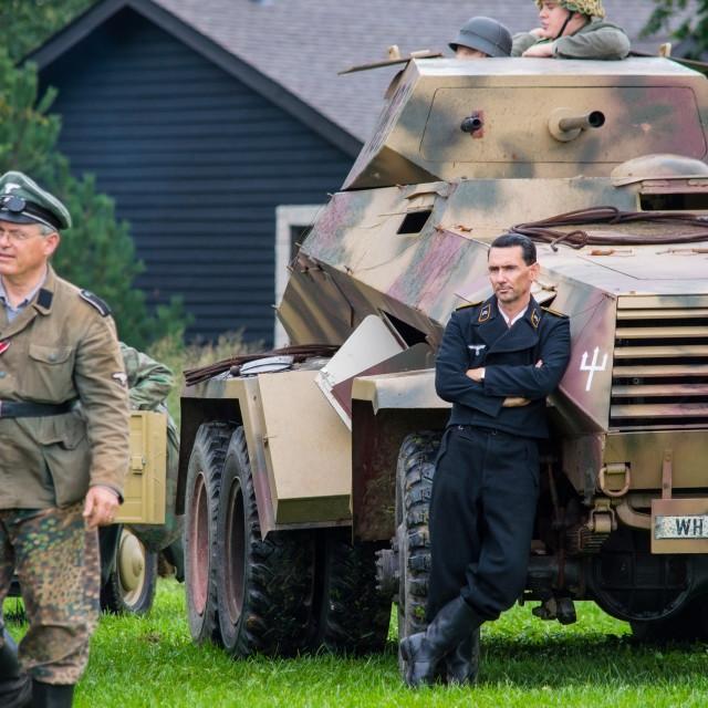 """German armored car crewman"" stock image"