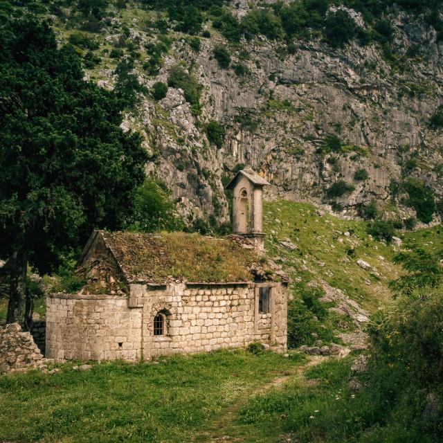 """Montenegro ruin"" stock image"