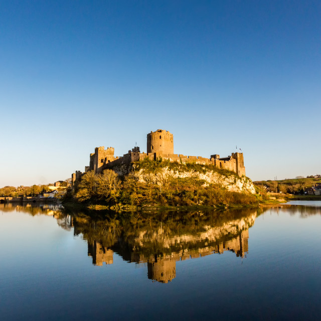 """Pembroke Castle."" stock image"