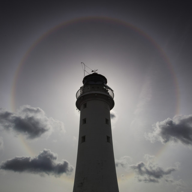 """Perch Rock Lighthouse Halo"" stock image"