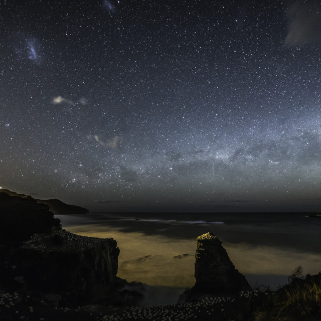 """Muriwai by night"" stock image"