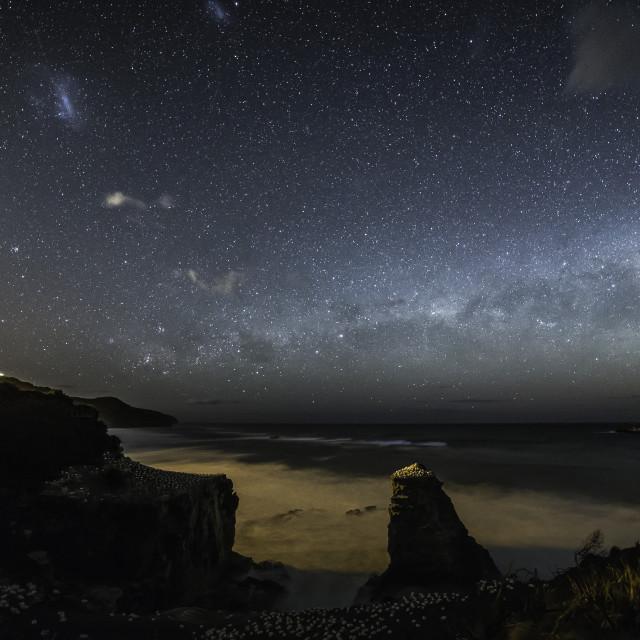 """""""Muriwai by night"""" stock image"""