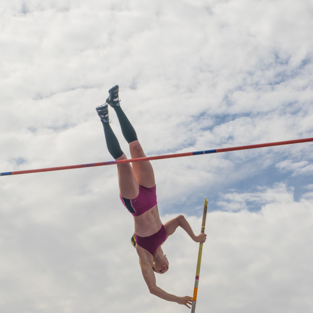 """Great north city games - womans pole vault"" stock image"