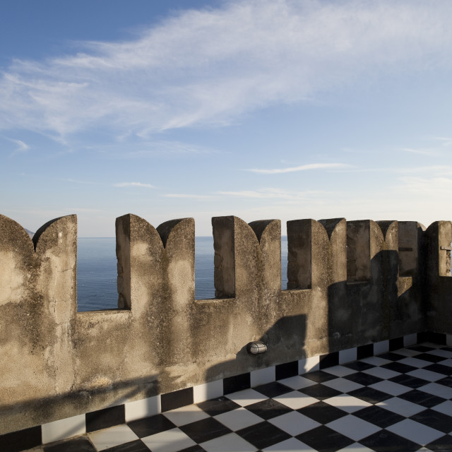 """""""Ancient tower's terrace"""" stock image"""