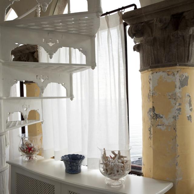"""Vintage room interior detail"" stock image"