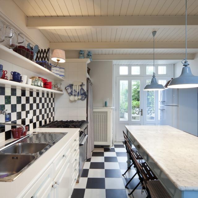 """Rustic kitchen interior"" stock image"