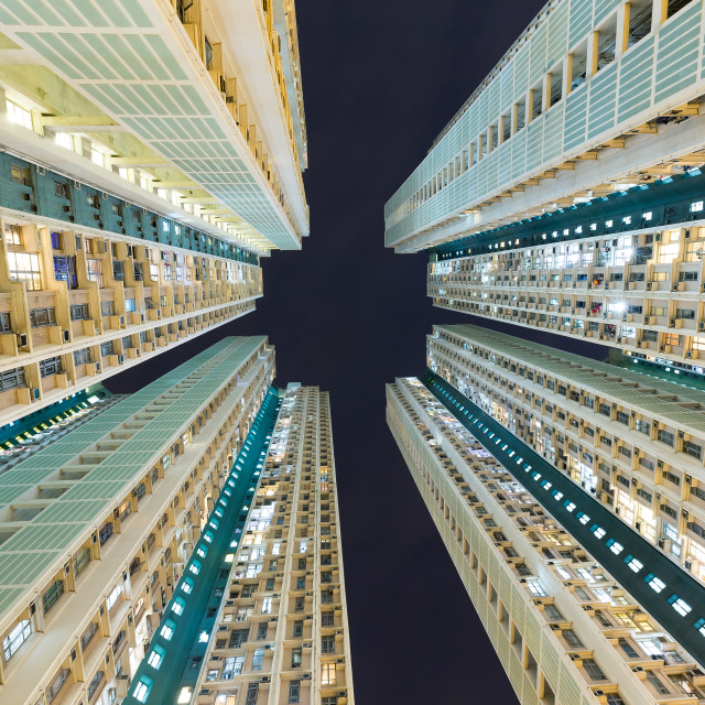 """""""Downtown residential building from low angle"""" stock image"""