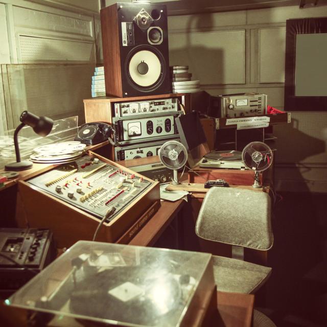 """Vintage radio studio"" stock image"