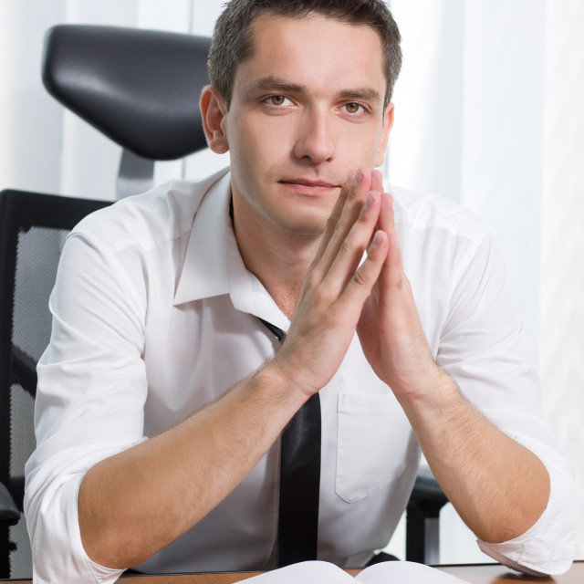 """Real office worker"" stock image"