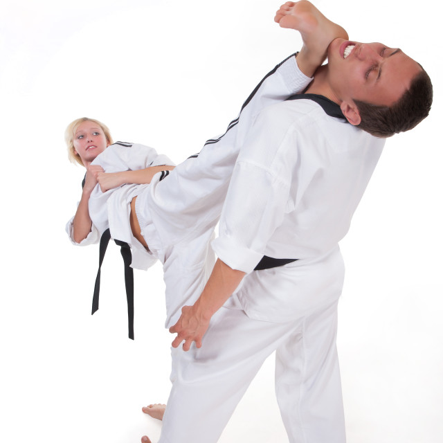 """Martial arts fighter"" stock image"