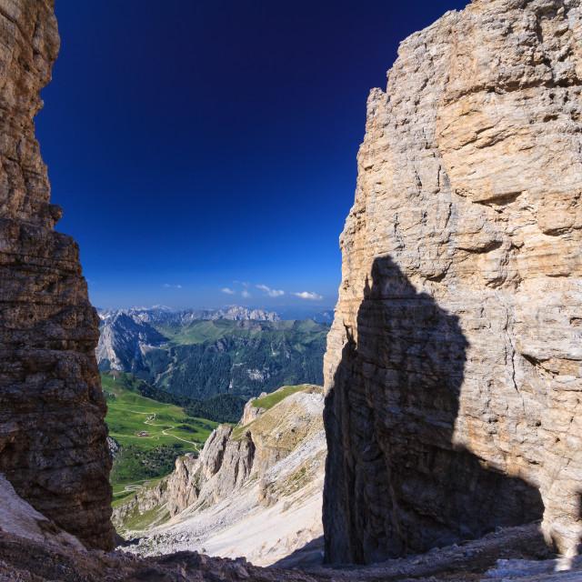 """Dolomiti - Forcella Pordoi"" stock image"