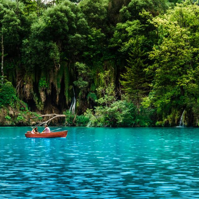 """Blue lagoon"" stock image"