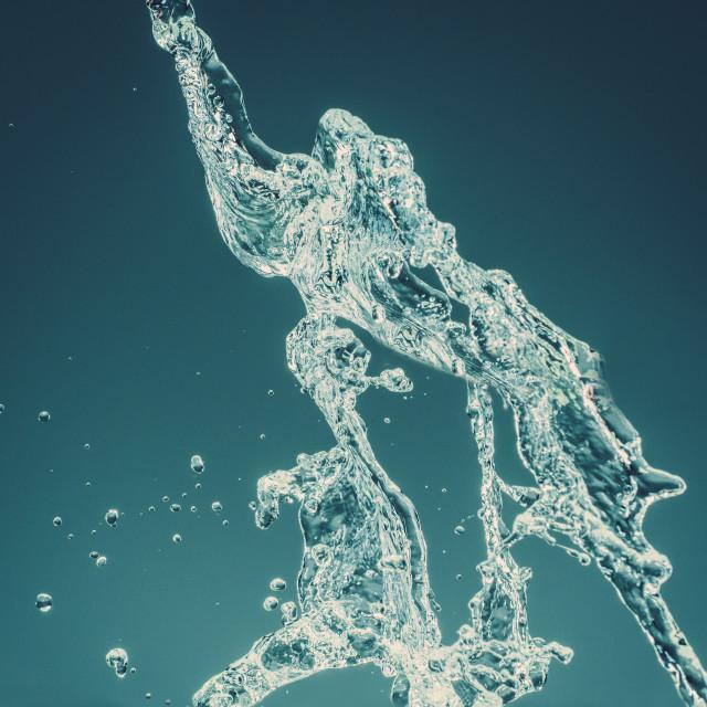 """""""Water splashes on isolated background"""" stock image"""