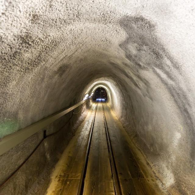 """salt mine corridor"" stock image"