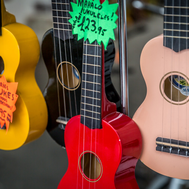 """Ukeleles for sale"" stock image"