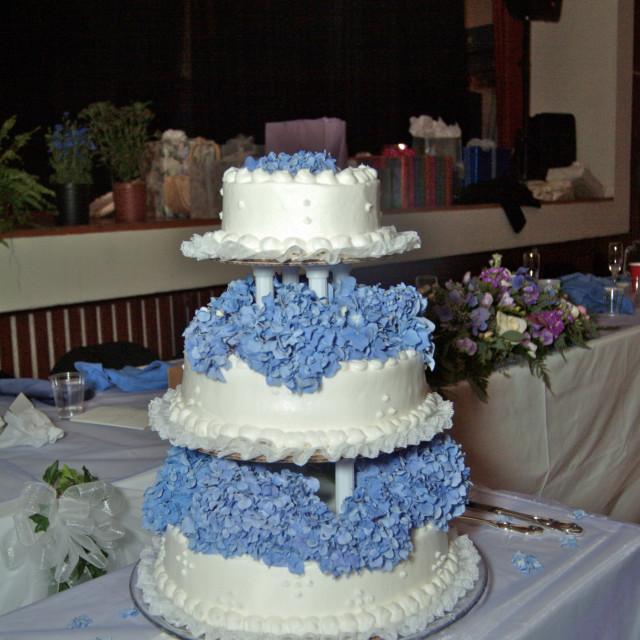 """""""Three Tier Wedding Cake"""" stock image"""