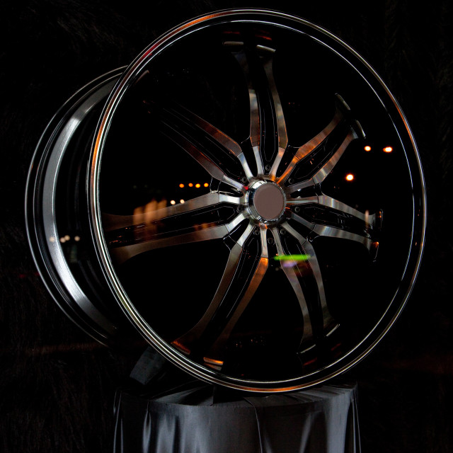 """Alloy rim and brake disc"" stock image"