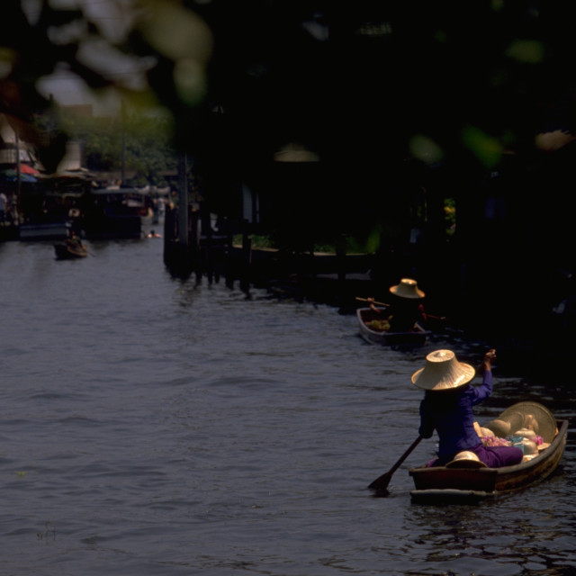 """Bangkok Floating Market"" stock image"