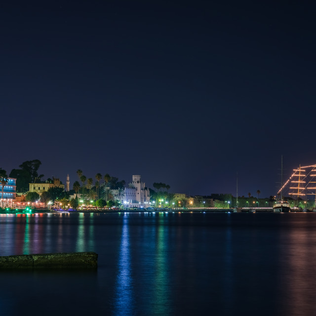"""Kos island at night"" stock image"