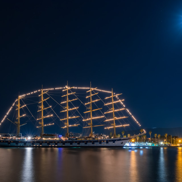 """Royal Clipper in Kos island Greece"" stock image"