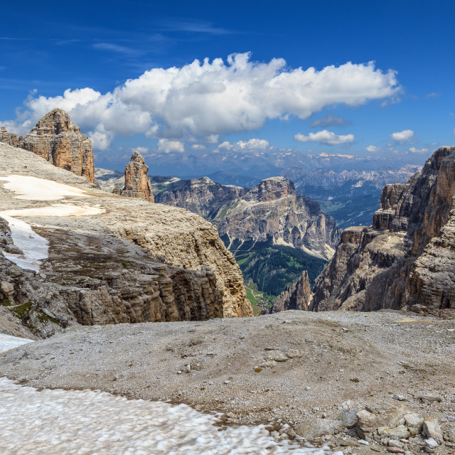 """Dolomiti - Mezdi valley in Sella mount"" stock image"