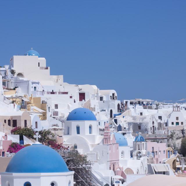 """Santorini Rooftops"" stock image"