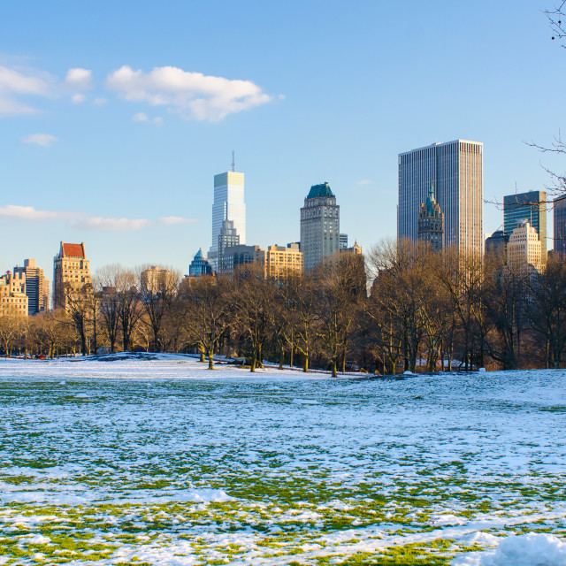 """winter day in Manhattan"" stock image"