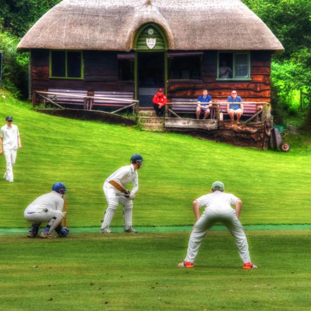 """Bridgetown Cricket Club."" stock image"