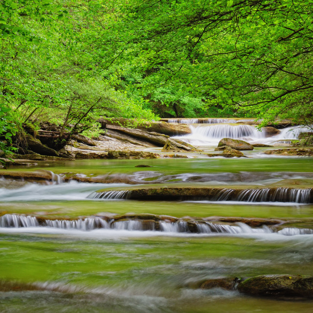 """stream in the park"" stock image"
