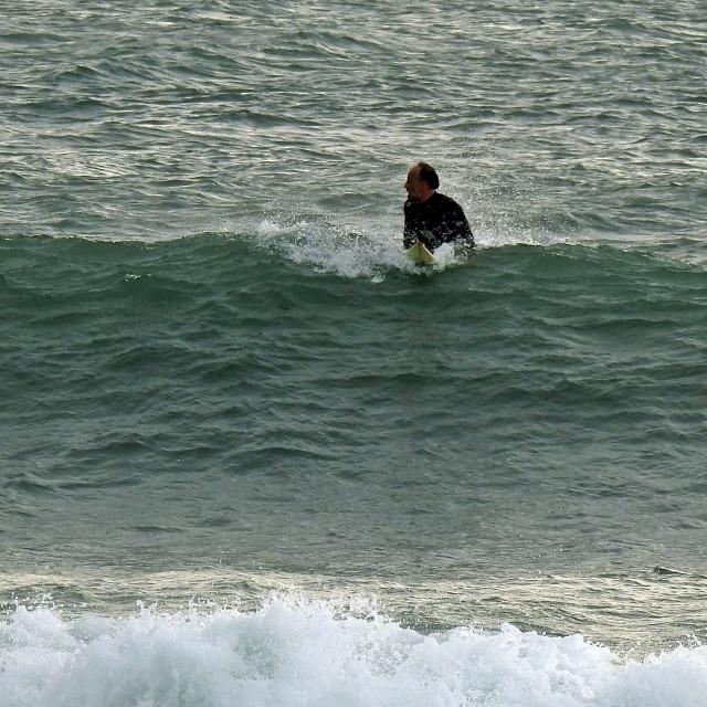 """""""September Surfing"""" stock image"""