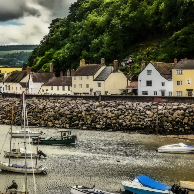 """Minehead harbour"" stock image"