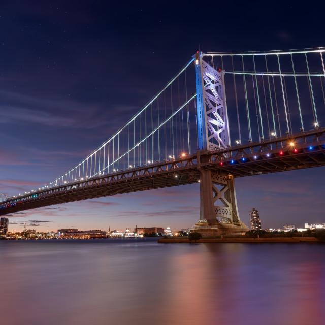 """Ben Franklin Bridge"" stock image"