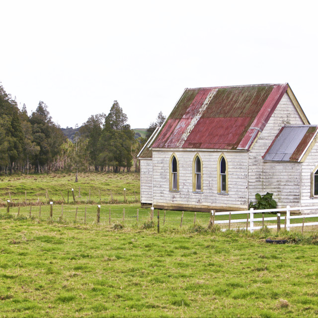"""""""Wooden Church in the Valley"""" stock image"""