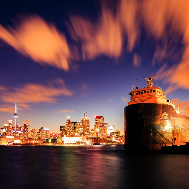 """Toronto and the Barge"" stock image"