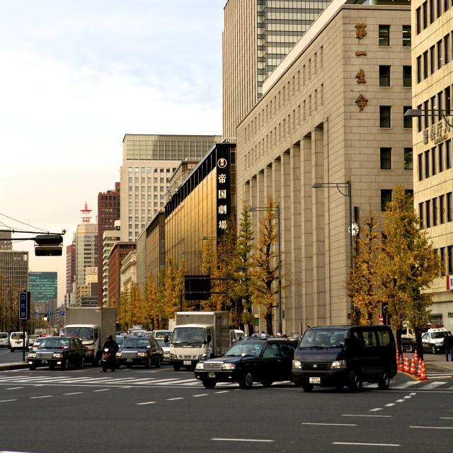 """Tokyo Traffic, City"" stock image"