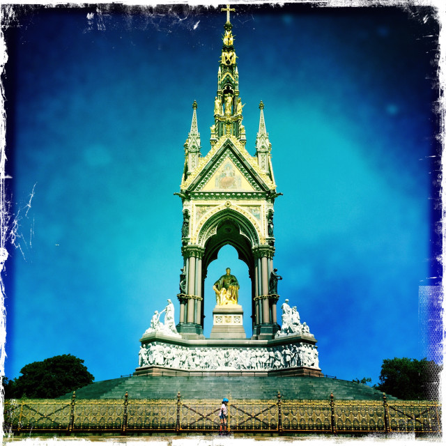 """Albert Memorial"" stock image"