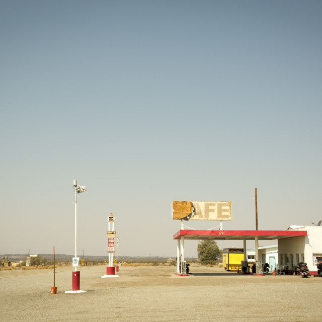"""Route 66 Gas Station"" stock image"