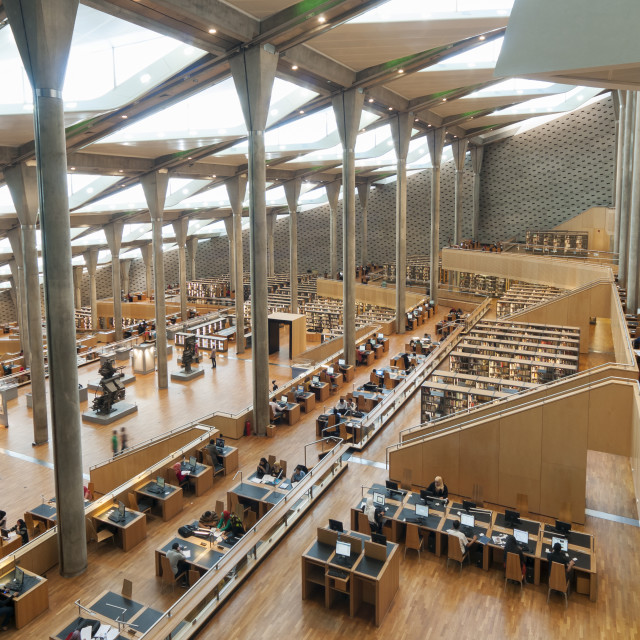 """Library of Alexandria, Egypt"" stock image"