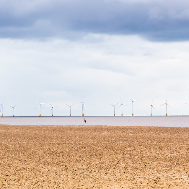 """Off Shore Windfarm"" stock image"