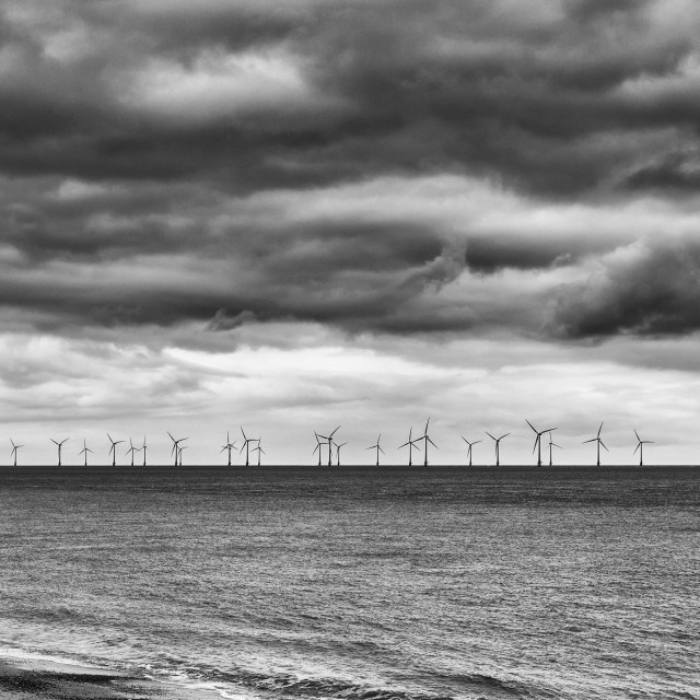 """Offshore Windfarm 2"" stock image"
