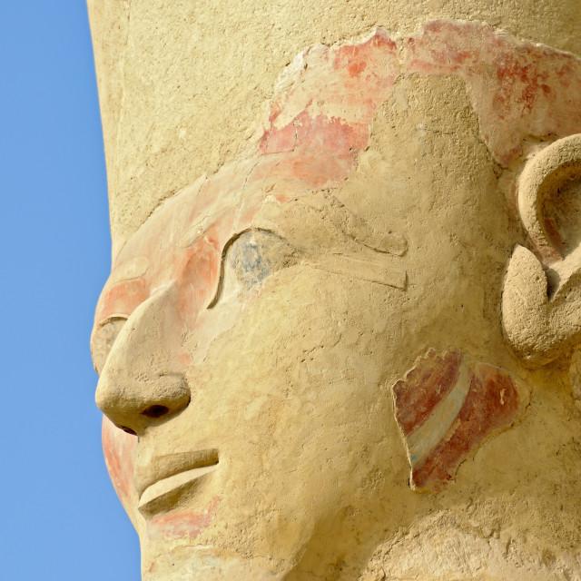 """Queen Hatshepsut, Deir el Bahri, Egypt"" stock image"