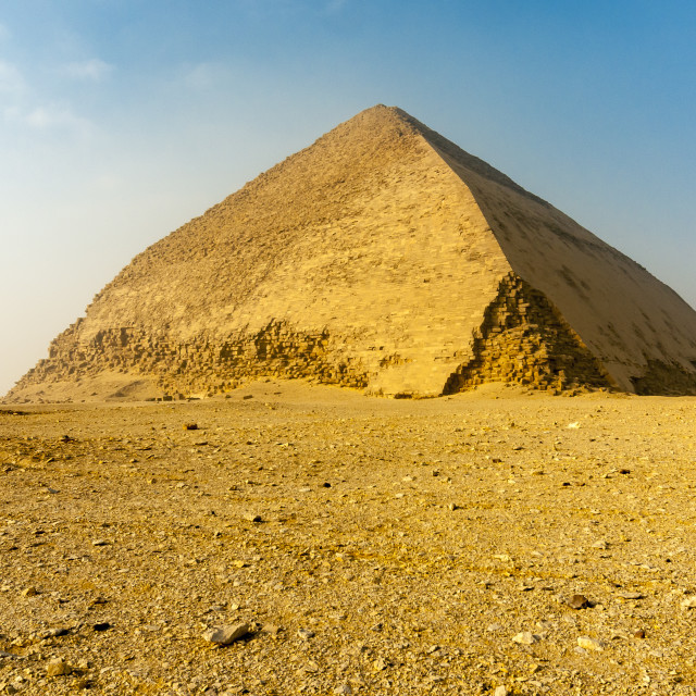 """Bent Pyramid, Dahshur, Egypt"" stock image"