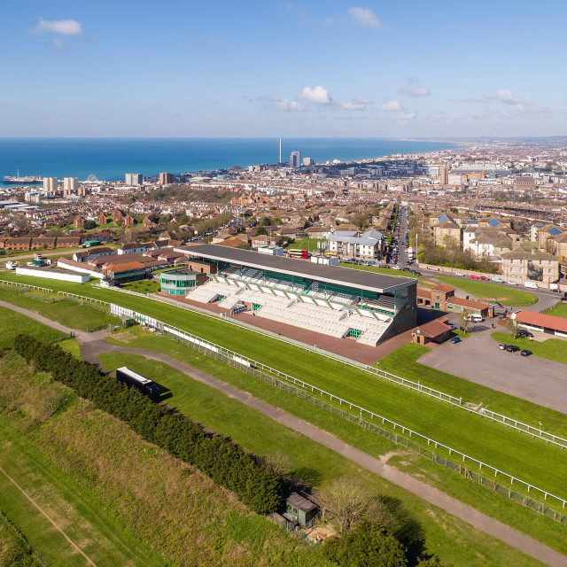 """Brighton Racecourse"" stock image"