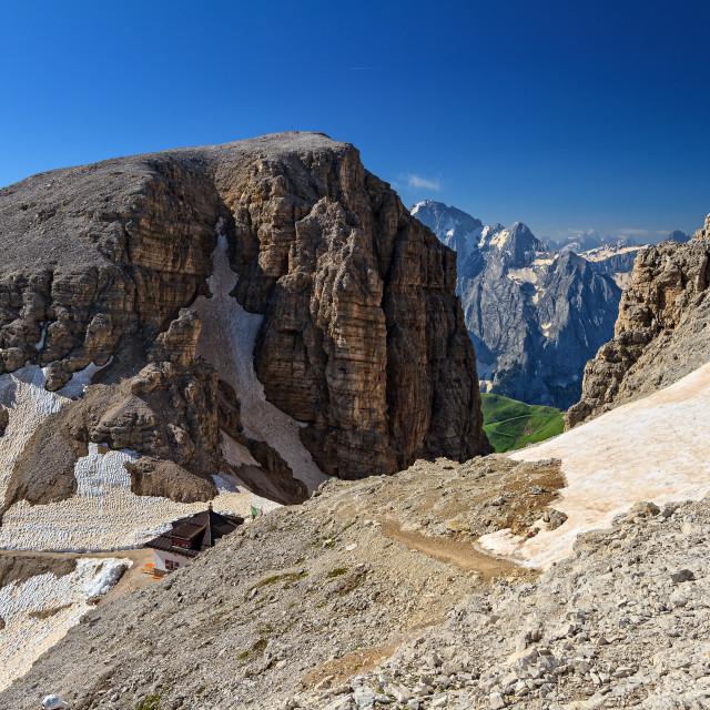 """""""Dolomiti - Forcella Sass Pordoi"""" stock image"""