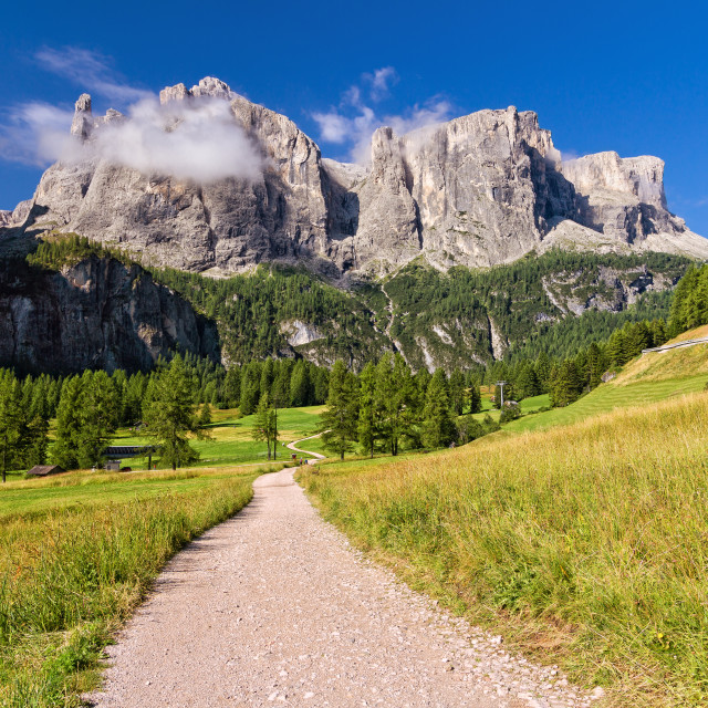 """Dolomiti - footpath in Badia Valley"" stock image"