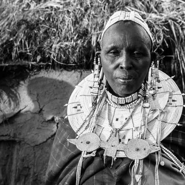 """""""Masai Grandma"""" stock image"""