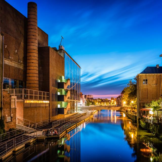 """Night Cityscape of Mechelen"" stock image"