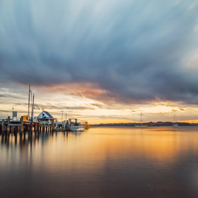 """""""Port Russel at Dusk"""" stock image"""